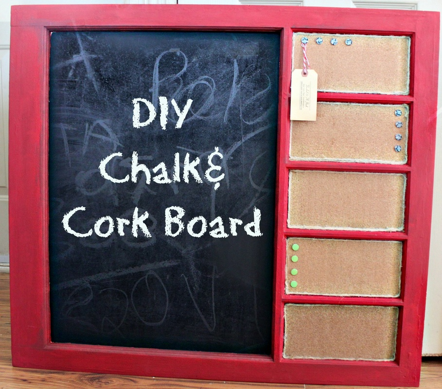 Diy Chalk Cork Board Bushel A Peck