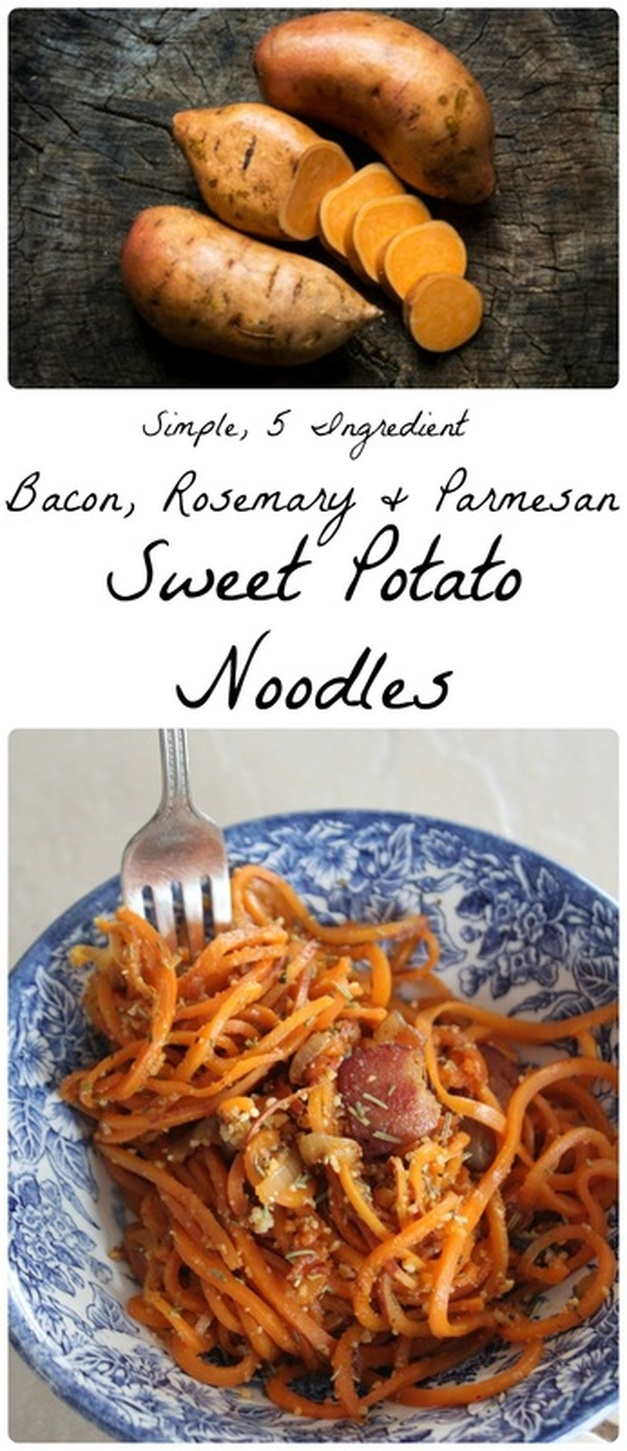 Bacon, Rosemary & Parmesan Sweet Potato Noodles